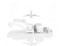 Different types of cargo. 3d rendering Stock Images