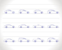 Different types of cars icons Royalty Free Stock Photography