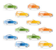 Different types of cars icons Royalty Free Stock Image
