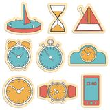 Various kinds of clock. from simple to complex. Royalty Free Stock Photo