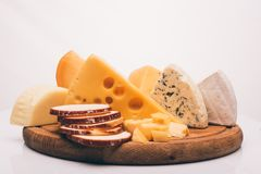 Different types of cheese Stock Photos