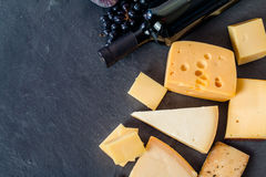 Different types of cheeses Royalty Free Stock Photos