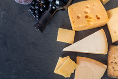 Different types of cheeses Royalty Free Stock Photo
