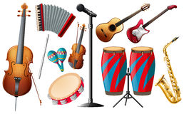 Different types of classical instruments. Illustration stock illustration