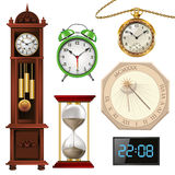 Different types of clocks Royalty Free Stock Images