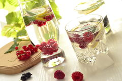 Different types of cold drink with berries Royalty Free Stock Images