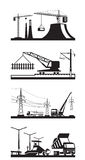 Different types of construction scenes Royalty Free Stock Photo