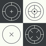 Different types of crosshair. Stock Photos