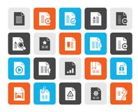Different types of Document icons. Vector icon set royalty free illustration