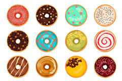 Different Types of Donuts Stock Images