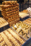 Different types of eastern Turkish sweets. Royalty Free Stock Photo