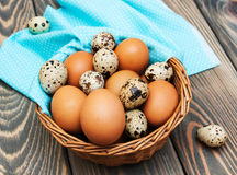 Different types of eggs Royalty Free Stock Photography