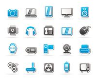 Different types of electronics icons. Vector icon set vector illustration