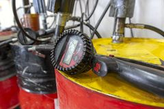 Different Types of equipment used in the oil industry royalty free stock photo