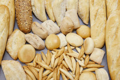Different types of fresh bread Stock Photos