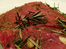 Different types of fresh raw meat Stock Photos