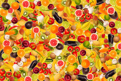 Different types of fruit and vegetables Royalty Free Stock Photos