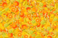 Different types of fruit and vegetables Stock Images