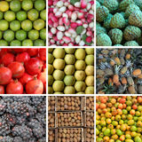 Different types of fruits collage Stock Image