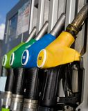 Different types of fuel dispensers Royalty Free Stock Image
