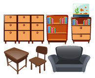 Different types of furniture Stock Photo