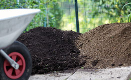 Different types of garden soil Stock Image