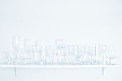 Different types of glasses. On white background Royalty Free Stock Image