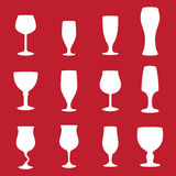 Different types of glasses. For drinking alcohol Stock Image