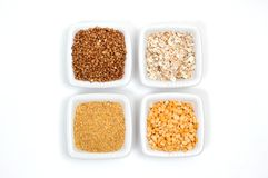 Different types of grain Stock Photos