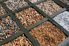 Different types of gravel Royalty Free Stock Image