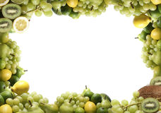 Different types of green fruits Stock Photo