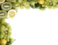 Different types of green and healthy fruits Stock Images