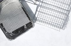 Different types of grill grate on the wgite surface, empty space. Grill grates on the white table. Set of new grills royalty free stock images