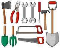 Different types of hand tools. Illustration Royalty Free Stock Image