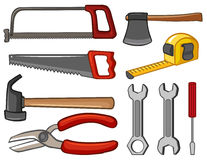 Different types of handtools Royalty Free Stock Photo