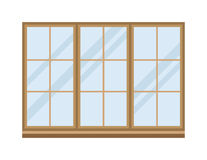 Different types house windows vector elements isolated on white background Royalty Free Stock Photography