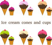 Different types of ice cream Royalty Free Stock Photo