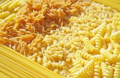 Different types of italian pasta Royalty Free Stock Photos