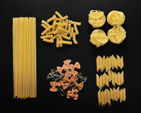 Different types of Italian uncooked pasta Royalty Free Stock Image
