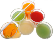 Different types of juices Stock Image
