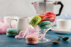 Different types of macaroons Royalty Free Stock Image