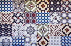 Different types of many Mediterranean / Aegean tiles. Captured in Bodrum peninsula / Turkey. True reflection of culture and lifestyle Royalty Free Stock Image