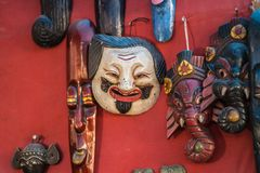 Different types of Masks that makes you laugh stock image