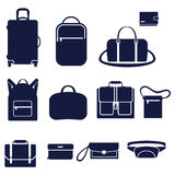 Different types of men's bags Royalty Free Stock Photography