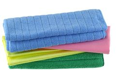 Different types of Micro Fiber cleaning cloth Stock Photos