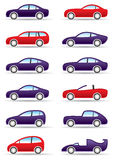 Different types of modern cars Royalty Free Stock Images