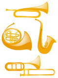Different types of musical instruments. Illustration Royalty Free Stock Photos