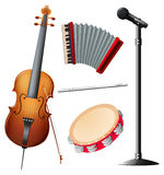 Different types of musical instruments Royalty Free Stock Photo