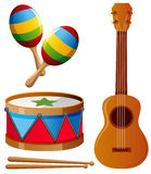 Different types of musical instruments Royalty Free Stock Image