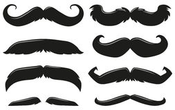 Different types of mustache Royalty Free Stock Image